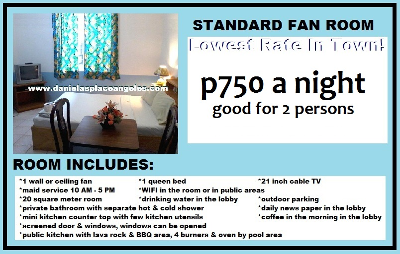 Danielas Place Budget Hotel in Angeles City Pampanga Philippines_Fan Room