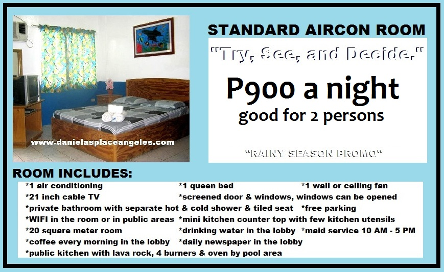 Danielas Place Budget Hotel in Angeles City Pampanga Philippines_Standard Aircon Room
