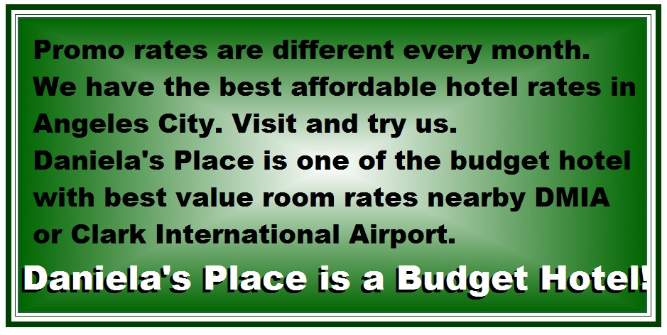 danielas place on promo budget price hotel in angeles city philippines nearby clark airport