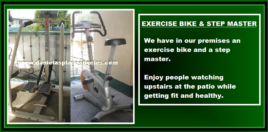 danielas place on promo free exercise bike and step master budget price hotel in angeles city philippines