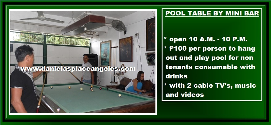 danielas place on promo free pool table by mini bar and swimming pool use budget price hotel in angeles city philippines