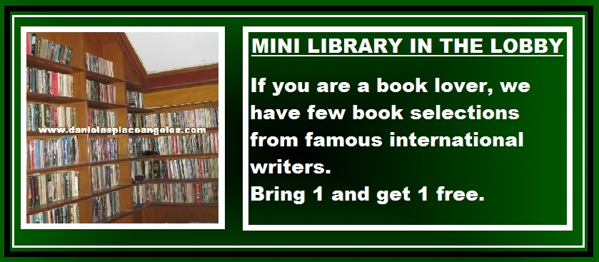 danielas place on promo free use mini library bring one get one free book budget price hotel in angeles city philippines