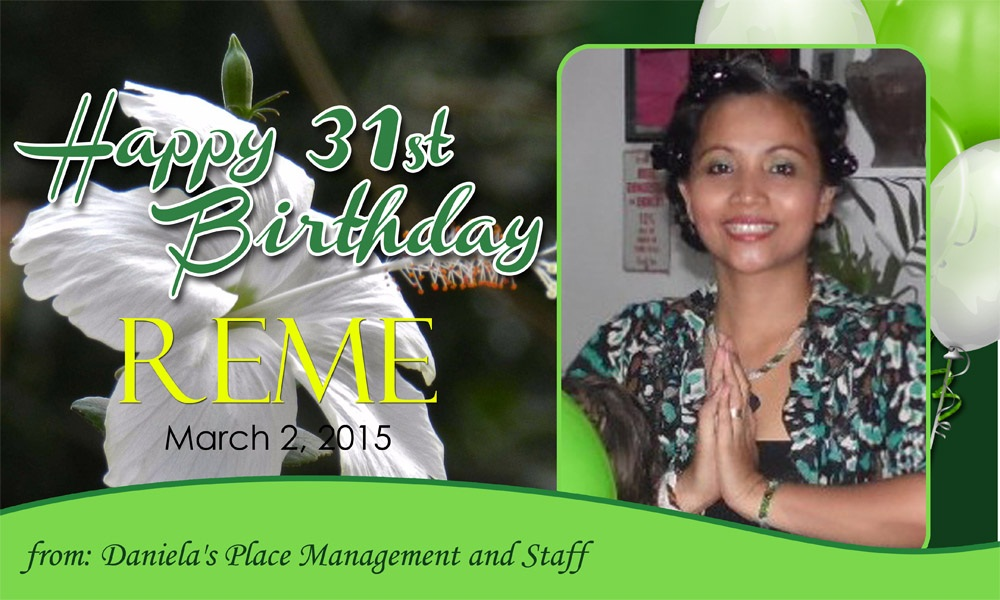REME birthday party 2015_Free Food in Daniela's Place Cheap Budget Hotel in Angeles City