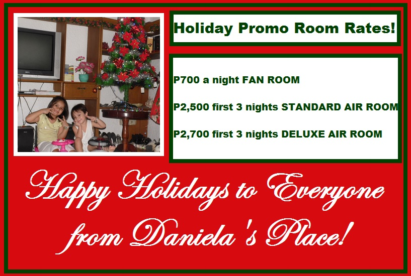 Daniela's Place Budget Hotel Christmas Promo